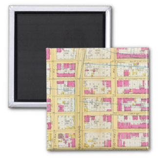 Manhatten, New York 2 2 Inch Square Magnet