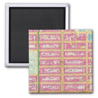 Manhatten, New York 2 Inch Square Magnet