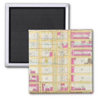 Manhatten, New York 3 2 Inch Square Magnet