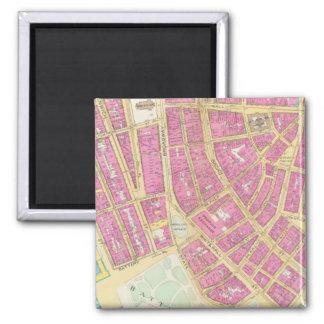 Manhatten, New York 8 2 Inch Square Magnet