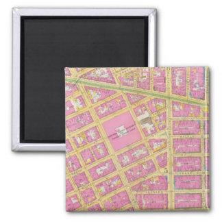 Manhatten, New York 9 2 Inch Square Magnet