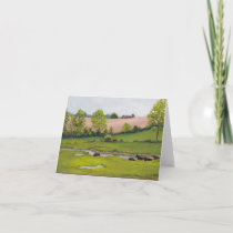 Manheim Pasture Landscape Art Note Card