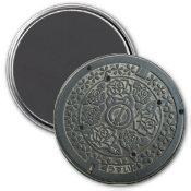 Manhole Cover 2 Fridge Magnets