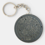 Manhole Cover 2 Keychains