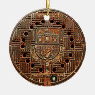 Manhole Cover 4 (Prague) Ceramic Ornament