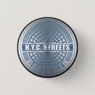 Manhole Cover Brooklyn Blue Button
