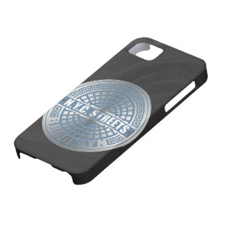 Manhole Cover Brooklyn Blue iPhone 5 Cover