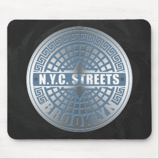 Manhole Cover Brooklyn Blue Mouse Pad