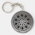 Manhole Cover Keychain