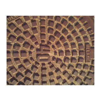 Manhole cover number 40 cork paper