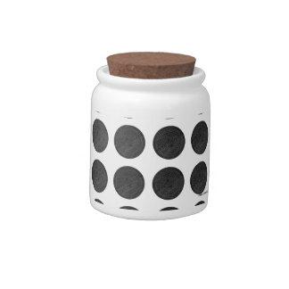 Manhole Covers Black Marble Candy Jar