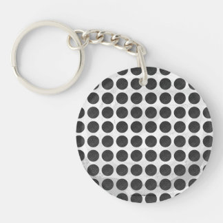 Manhole Covers Black Marble Keychain