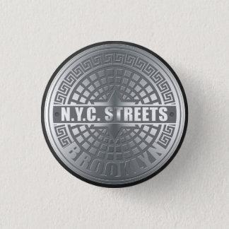 Manhole Covers Brooklyn Pinback Button