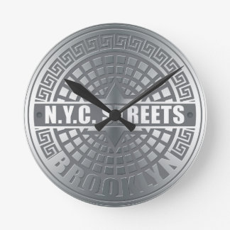 Manhole Covers Brooklyn Round Clock