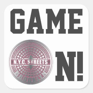 Manhole Covers Brooklyn Square Sticker