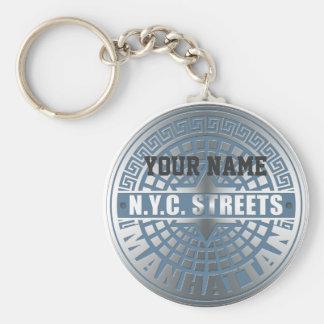 Manhole Covers Manhattan Keychain
