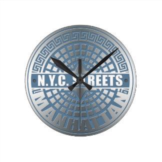 Manhole Covers Manhattan Round Clock