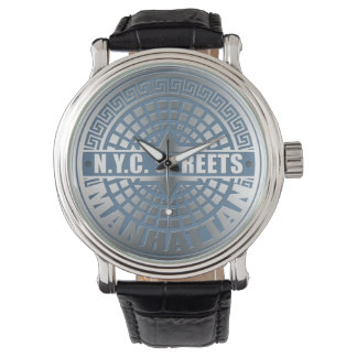 Manhole Covers Manhattan Wristwatch