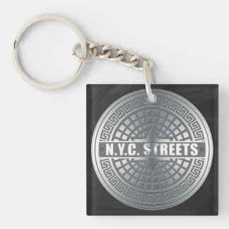 Manhole Covers NYC Acrylic Keychain