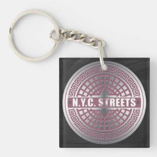 Manhole Covers NYC Acrylic Keychains