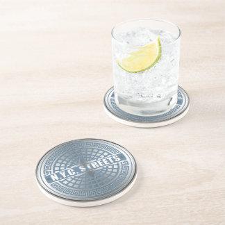 Manhole Covers NYC Drink Coaster