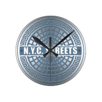 Manhole Covers NYC Round Clock
