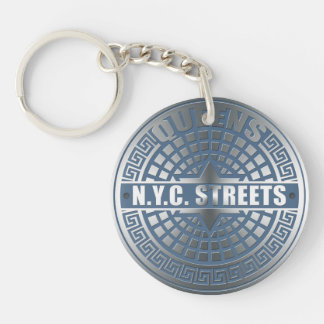 Manhole Covers Queens Acrylic Key Chain