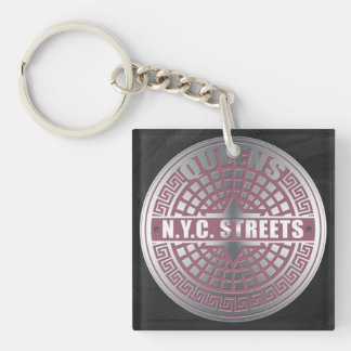 Manhole Covers Queens Acrylic Keychain