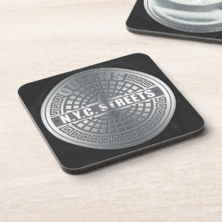 Manhole Covers Queens Drink Coaster
