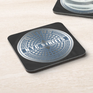 Manhole Covers Queens Drink Coasters