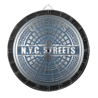 Manhole Covers Queens Dartboard With Darts