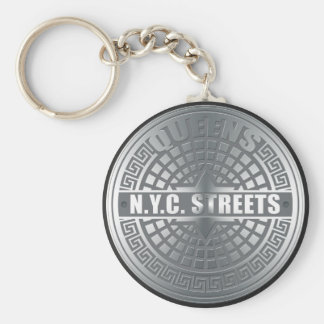 Manhole Covers Queens Key Chain
