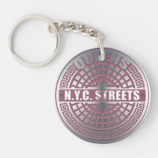 Manhole Covers Queens Keychain