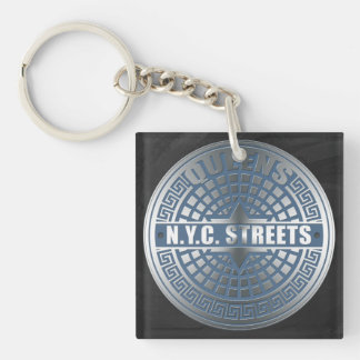 Manhole Covers Queens Acrylic Key Chains