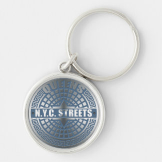 Manhole Covers Queens Keychains