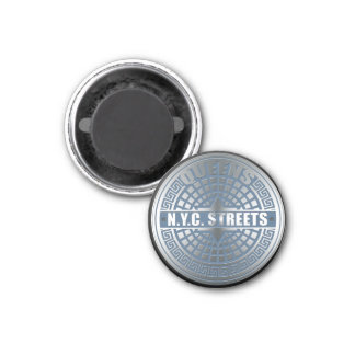 Manhole Covers Queens 1 Inch Round Magnet