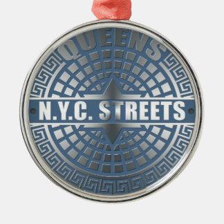 Manhole Covers Queens Metal Ornament