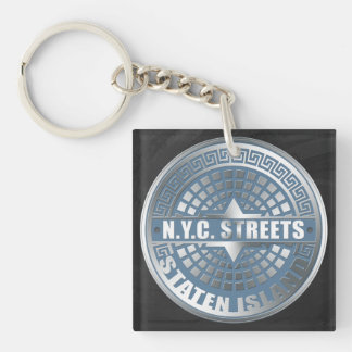 Manhole Covers Staten Island Acrylic Key Chains