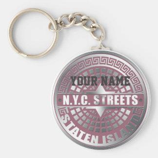 Manhole Covers Staten Island Key Chain