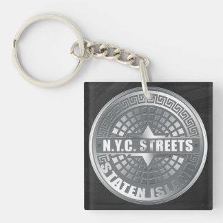 Manhole Covers Staten Island Key Chains