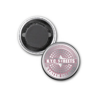 Manhole Covers Staten Island 1 Inch Round Magnet