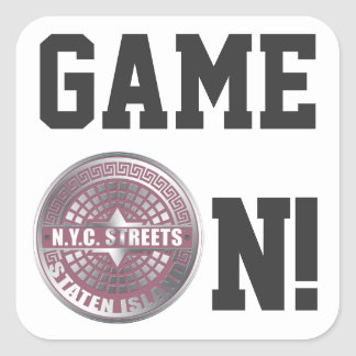 Manhole Covers Staten Island Square Sticker