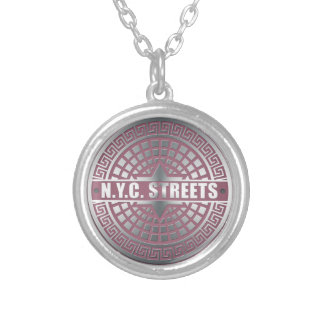 Manhole CoversNYC Silver Plated Necklace