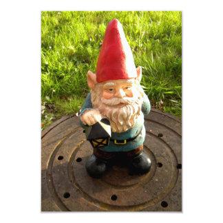 Manhole Gnome 3.5x5 Paper Invitation Card