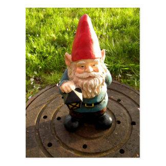 Manhole Gnome Postcard
