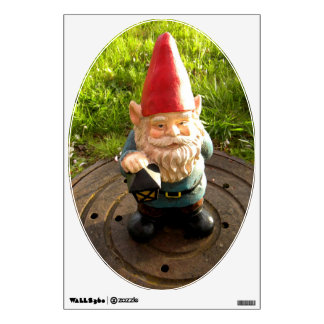 Manhole Gnome Wall Sticker
