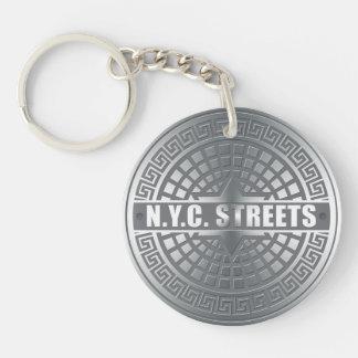 Manhole NYC Acrylic Keychains