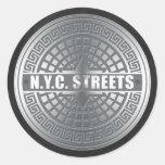 Manhole NYC Classic Round Sticker