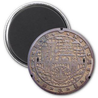 Manhole of the Osaka city aqueduct bureau drain va 2 Inch Round Magnet