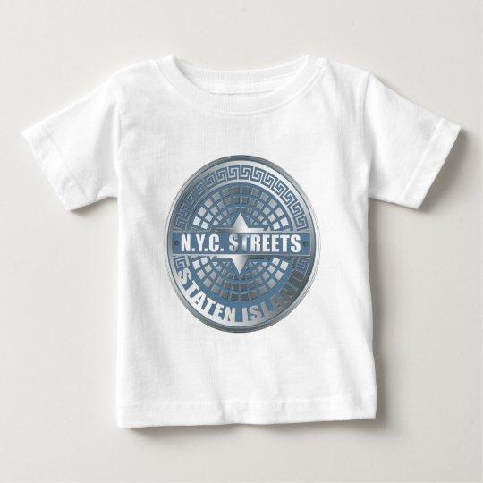 Manhole Staten Island Blue Baby T-Shirt